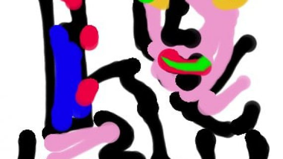 dessin de vladimir mitz au bistouri